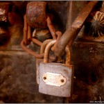 rusty padlock near musuem in tangier
