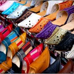 colorful moroccan slippers