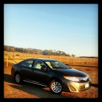 Our trusty steed for our #California #roadtrip.  Free upgrade from alamo. 2.0 #Toyota camry