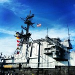 Captains bridge and air control tower at the top of #uss midway carrier #navy #megastructure #ship #army