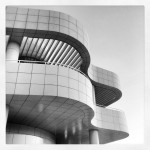 Beautiful architecture at The Getty Center #curves #buildings #design #blackandwhite #losangeles