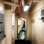 Never-ending corridors I n the USS midway aircraft carrier  #ship #army #sandiego