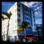 Art deco style buildings at Miami beach #art #Miami  #blue