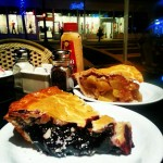 Epic apple and blueberry pies on Miami streetwise cafe #pie #foodies