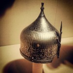 Intricate Islamic verses on a soldiers helmet #islamicart