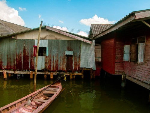 boats and houses on stilts make up the bulk of koh panyi